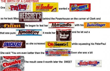 Yummies 4 Tummies :-) | FUN PIC: Dirrrrty story of candy bars