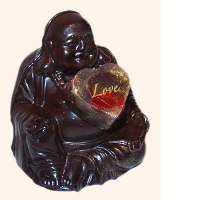 Organic chocolate buddha