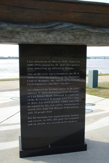 Tom Lee Memorial engraved story