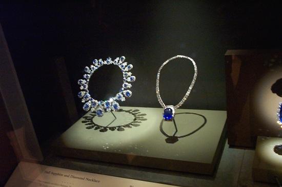 Sapphire & diamond necklaces