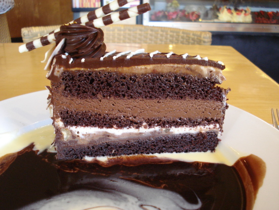 Triple Chocolate Mousse Torte