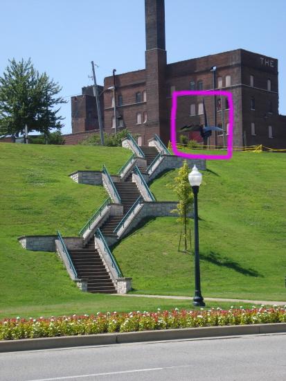 Steps to Vance Park
