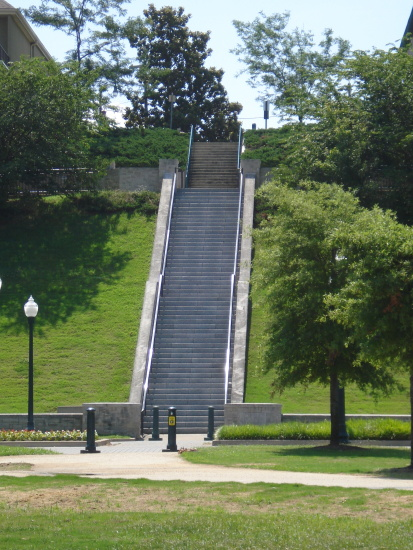 Steps near beautiful homes