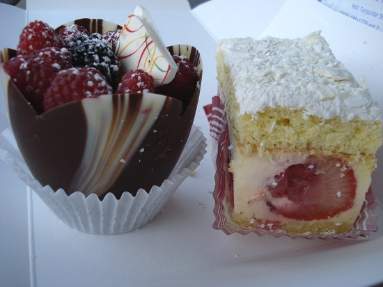 Spring Basket Cup and Strawberry Bagatelle