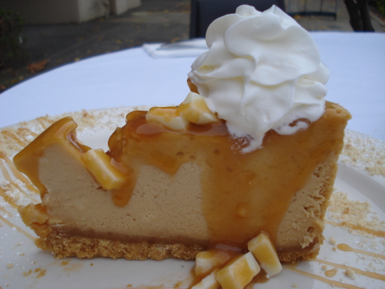 Caramel White Chocolate Cheesecake