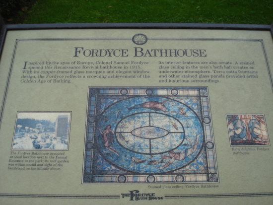 Fordyce Bathhouse sign