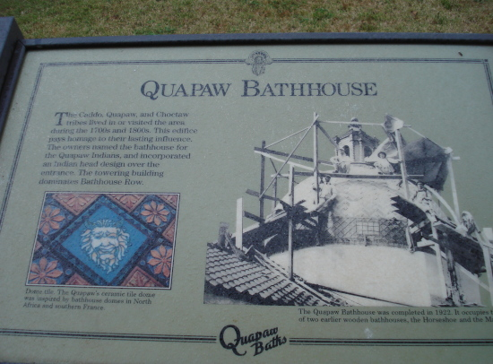 Quapaw Bathhouse sign