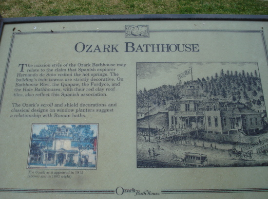 Ozark Bathhouse sign