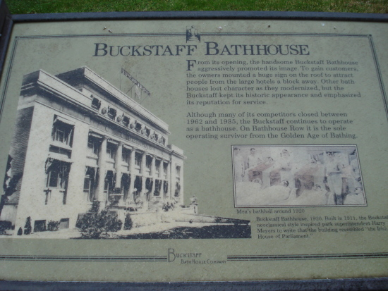 Buckstaff Bathhouse sign