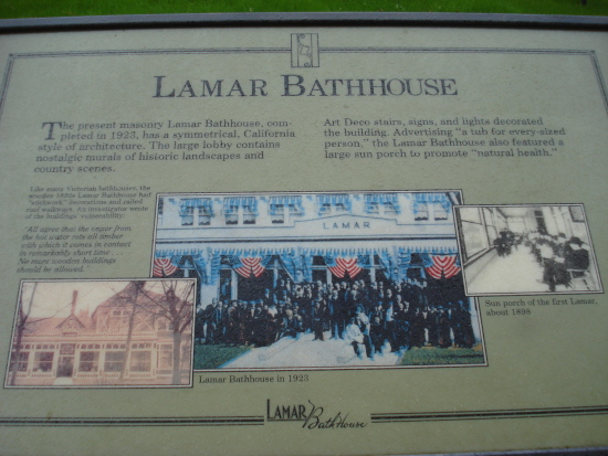 Lamar Bathhouse sign