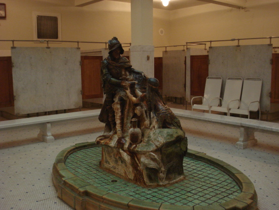 Fountain in Men's Bathhall