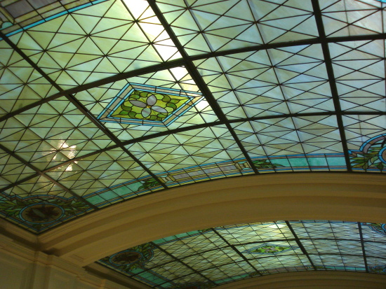 Stained glass ceiling of Assembly Room