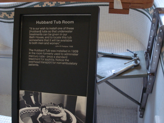 Hubbard Tub Room sign