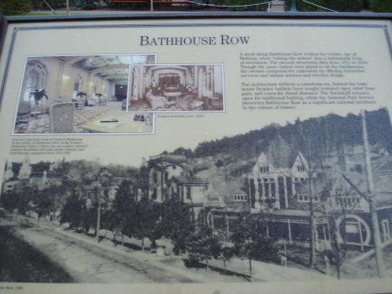Bathhouse Row sign