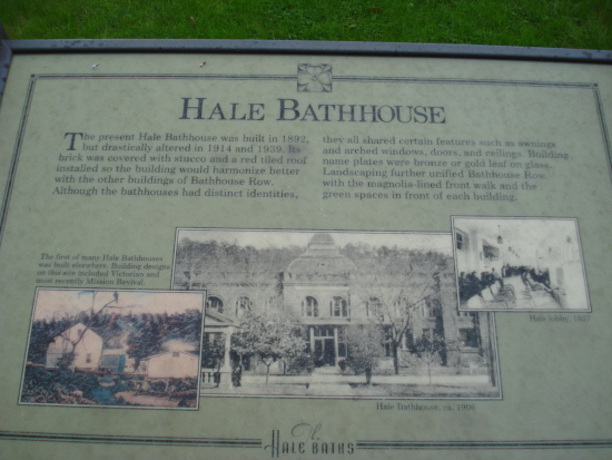 Hale Bathhouse sign