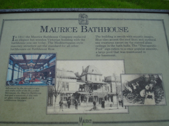 Maurice Bathhouse sign