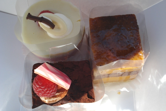 3 desserts from Sage French Cake