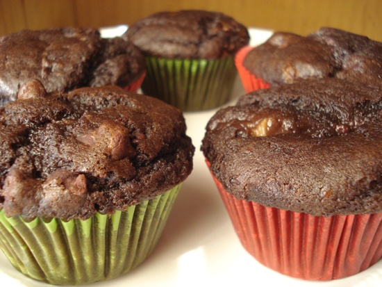 Double Chocolate Chip Muffins with Banana
