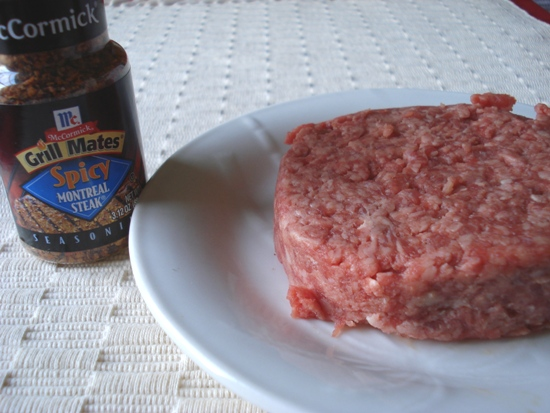 Burger seasoned with McCormick