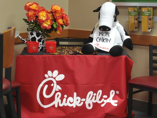 Chick-Fil-A table