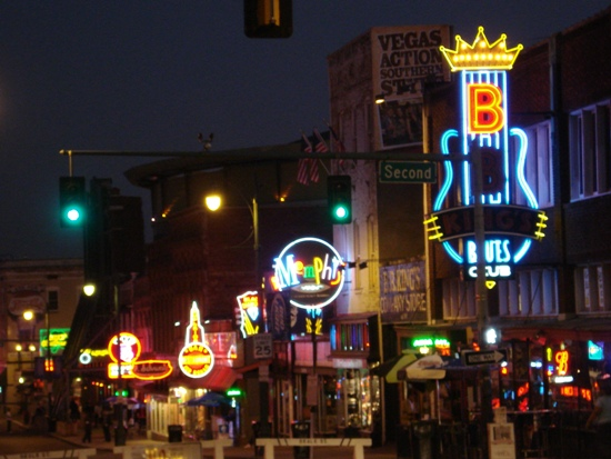 Beale at night