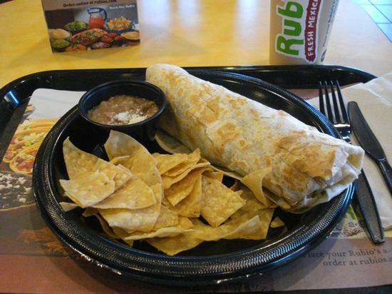 Rubio's fish burrito
