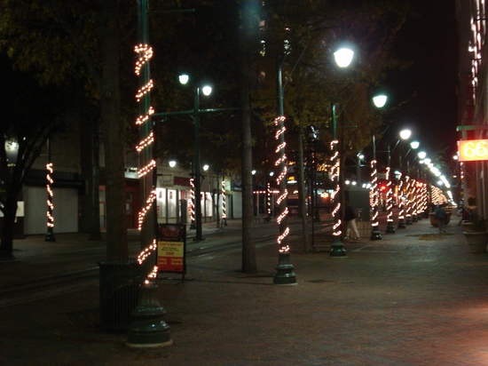 Xmas lights in downtown